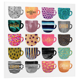 Foam board print  Pretty coffee cups - Elisabeth Fredriksson