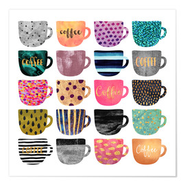 Premium poster Pretty coffee cups