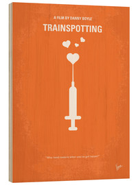 Wood print  No152 My TRAINSPOTTING minimal movie poster - chungkong
