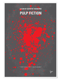 Poster No067 My Pulp Fiction minimal movie poster