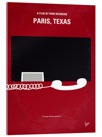 Acrylic glass  No062 My Paris Texas minimal movie poster - chungkong