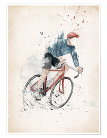 Premium poster  I want to ride my bicycle - Balazs Solti