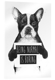 Acrylic print  Being normal is boring - Balazs Solti