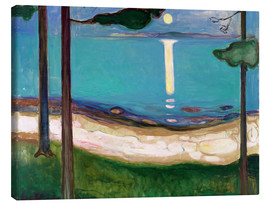 Canvas print  Moonlight - Edvard Munch