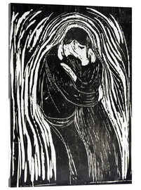 Acrylic print  The Kiss II - Edvard Munch