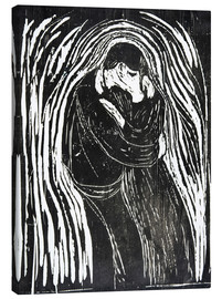 Canvas print  The Kiss II - Edvard Munch