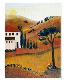 Premium poster  Colours of Tuscany - Christine Huwer