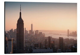 Aluminium print  Sunset over NYC - Images Beyond Words