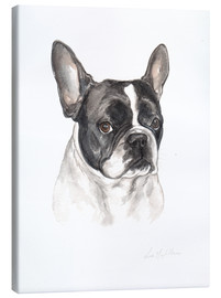Canvas print  French bulldog, black-white - Lisa May Painting
