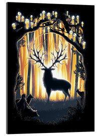 Acrylic glass  The God of the forest - Barrett Biggers