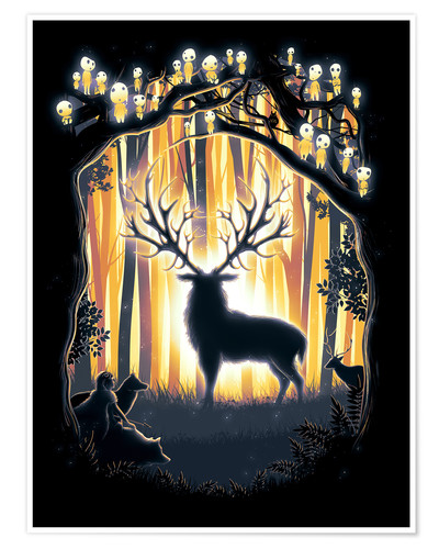 Premium poster The God of the forest