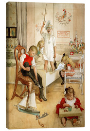 Canvas print  On the morning of Christmas Day - Carl Larsson