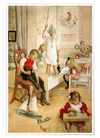 Premium poster  On the morning of Christmas Day - Carl Larsson