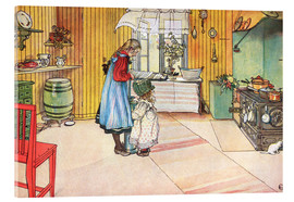 Acrylic print  In the kitchen - Carl Larsson