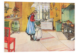 Foam board print  In the kitchen - Carl Larsson