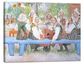 Canvas  Kerstis Birthday - Carl Larsson