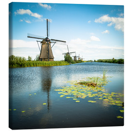 Canvas print  Picturesque Kinderdijk - Hannes Cmarits