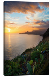 Canvas  Bay of Funchal at Sunset, Madeira - Markus Kapferer