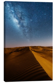Canvas  Milky way over dunes, Oman - Matteo Colombo
