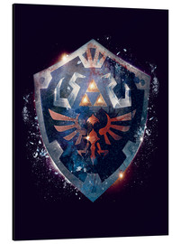 Aluminium print  Epic Shield of Hyrule - Barrett Biggers
