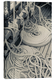 Canvas print  Rigging on a schooner - Walter Bibikow