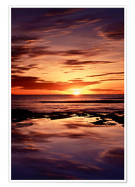 Premium poster Sunset over the sea