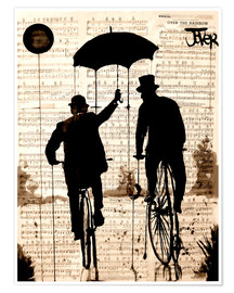 Premium poster  The umbrella - Loui Jover