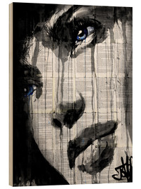 Wood print  Always - Loui Jover