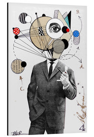 Aluminium print  the thinking man - Loui Jover
