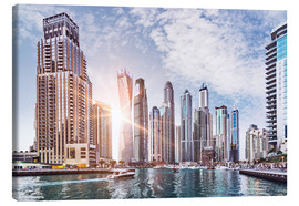 Canvas print  Sunset at Dubai Marina - Felix Pergande