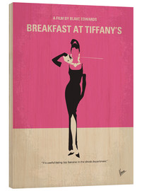 Wood print  Breakfast at Tiffany's - chungkong
