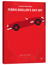 Canvas  No292 My Ferris Bueller's day off minimal movie poster - chungkong