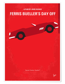 Poster  No292 My Ferris Bueller's day off minimal movie poster - chungkong