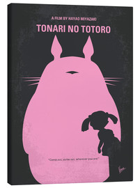 Canvas  No290 My My Neighbor Totoro minimal movie poster - chungkong