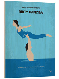 Wood  No298 My Dirty Dancing minimal movie poster - chungkong