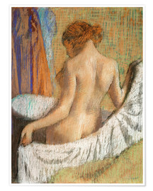 Premium poster  After the bath - Edgar Degas