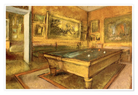 Premium poster  Billiard Room at Menil Hubert - Edgar Degas
