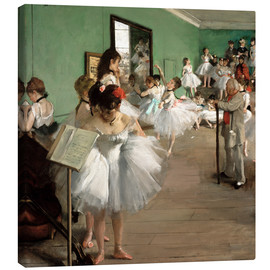 Canvas print  The Dance Class - Edgar Degas