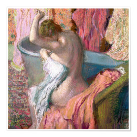 Premium poster  Seated Bather - Edgar Degas