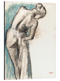 Aluminium print  Woman drying herself - Edgar Degas