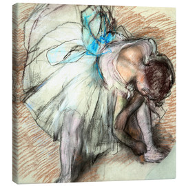 Canvas print  Dancer adusting Her Shoe - Edgar Degas
