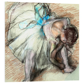 Foam board print  Dancer adusting Her Shoe - Edgar Degas
