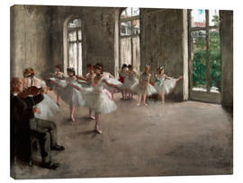 Canvas  The Rehearsal - Edgar Degas