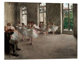 Foam board print  The rehearsal - Edgar Degas