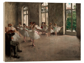 Wood print  The rehearsal - Edgar Degas