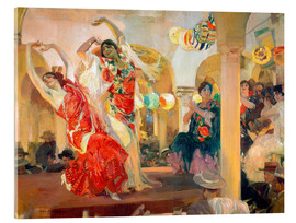 Acrylic print  Flamenco in the cafe Novedades - Joaquín Sorolla y Bastida