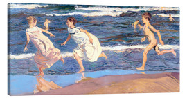 Canvas print  Running Along the Beach - Joaquin Sorolla y Bastida