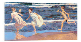 Foam board print  Running Along the Beach - Joaquín Sorolla y Bastida