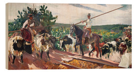 Wood print  The Enclosure - Joaquin Sorolla y Bastida