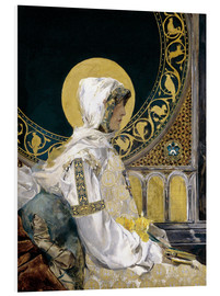 Foam board print  Saint in prayer - Joaquín Sorolla y Bastida